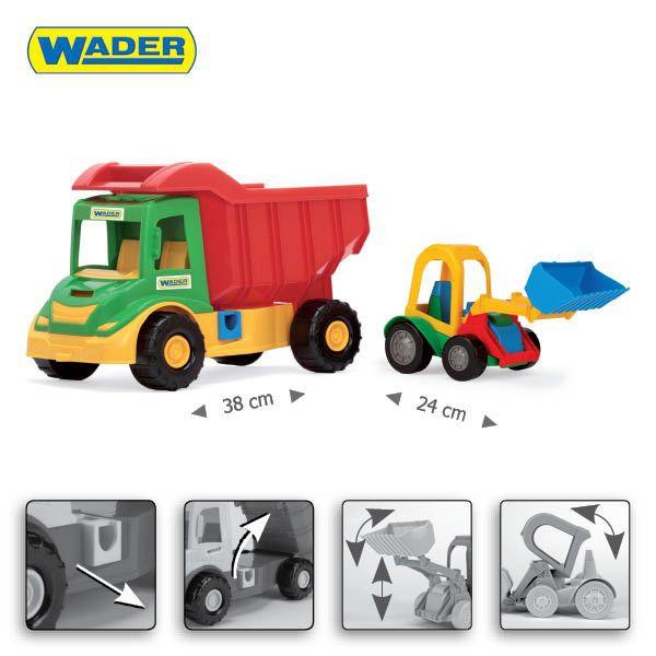WADER Multi truck грузовик с трактором 39219