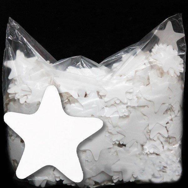 Конфетти звезды белые 35мм