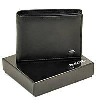 Мужской кошелек из натуральной кожи Dr. Bond Classic.  Черный и коричневый., фото 1