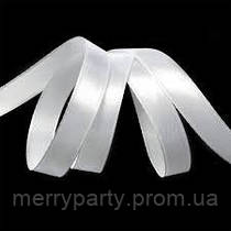 Атласная лента белая 12 мм на метраж