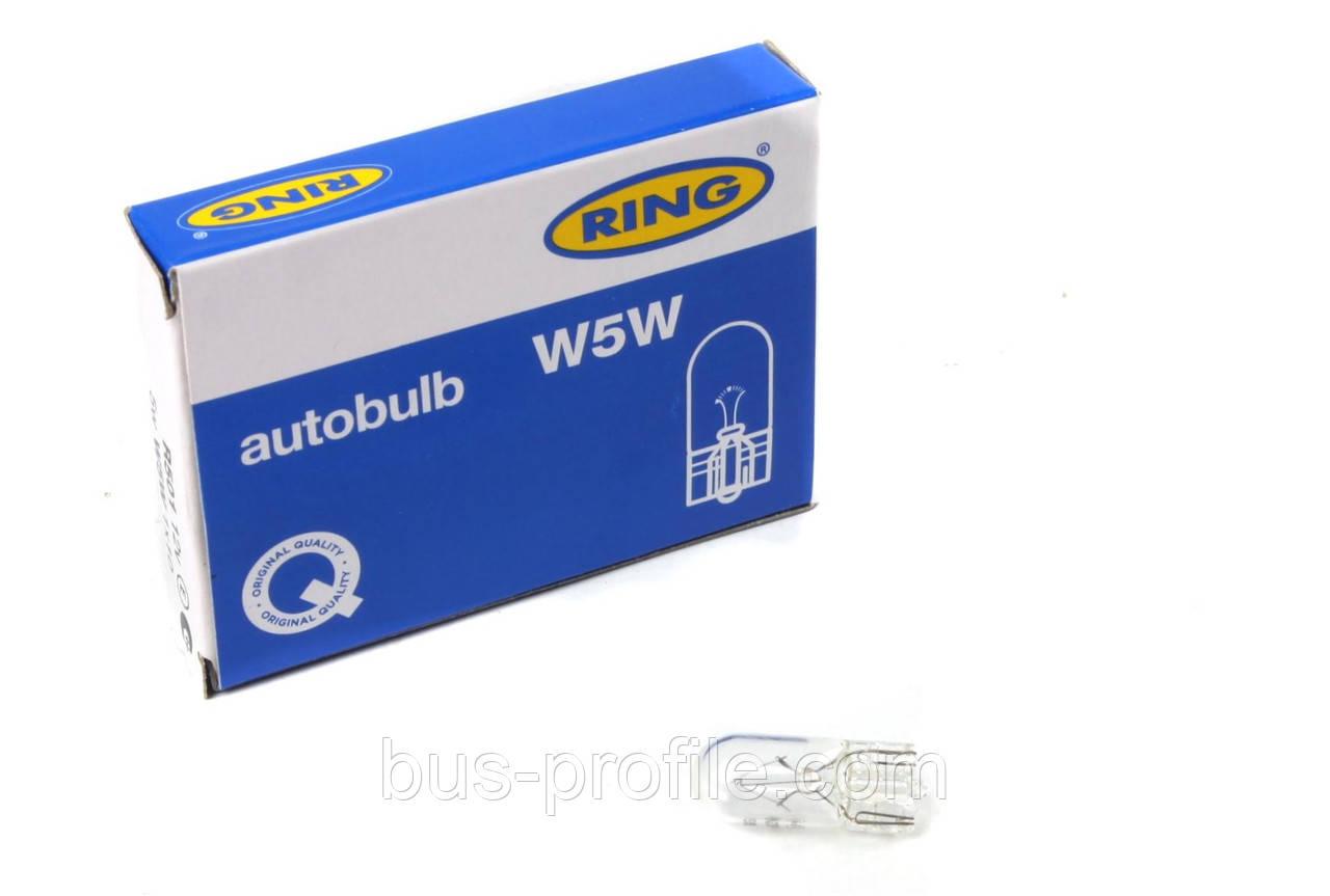 Автолампи W5W 12V 5W W2.1x9.5d Side/Tail (без цоколя) — Ring — R501
