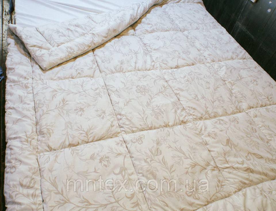 Одеяло стеганое чистая шерсть бязь Соло Веточки