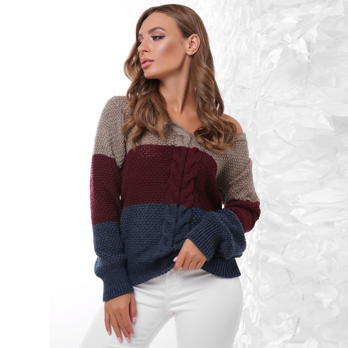 """Модні жіночі в'язані светри """"Дакота"""""""