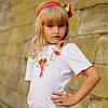 Детская вышитая футболка для девочки | Дитяча вишита футболка для дівчинки