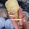 Шнур хлопковый толстый для макраме и вязания ванильный (80 м 250 грамм)