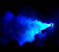 Дым машина - генератор спецэффекта дым с LED подсветкой 4 цвета RGB(W) 400 Вт, пультом ДУ и кнопкой