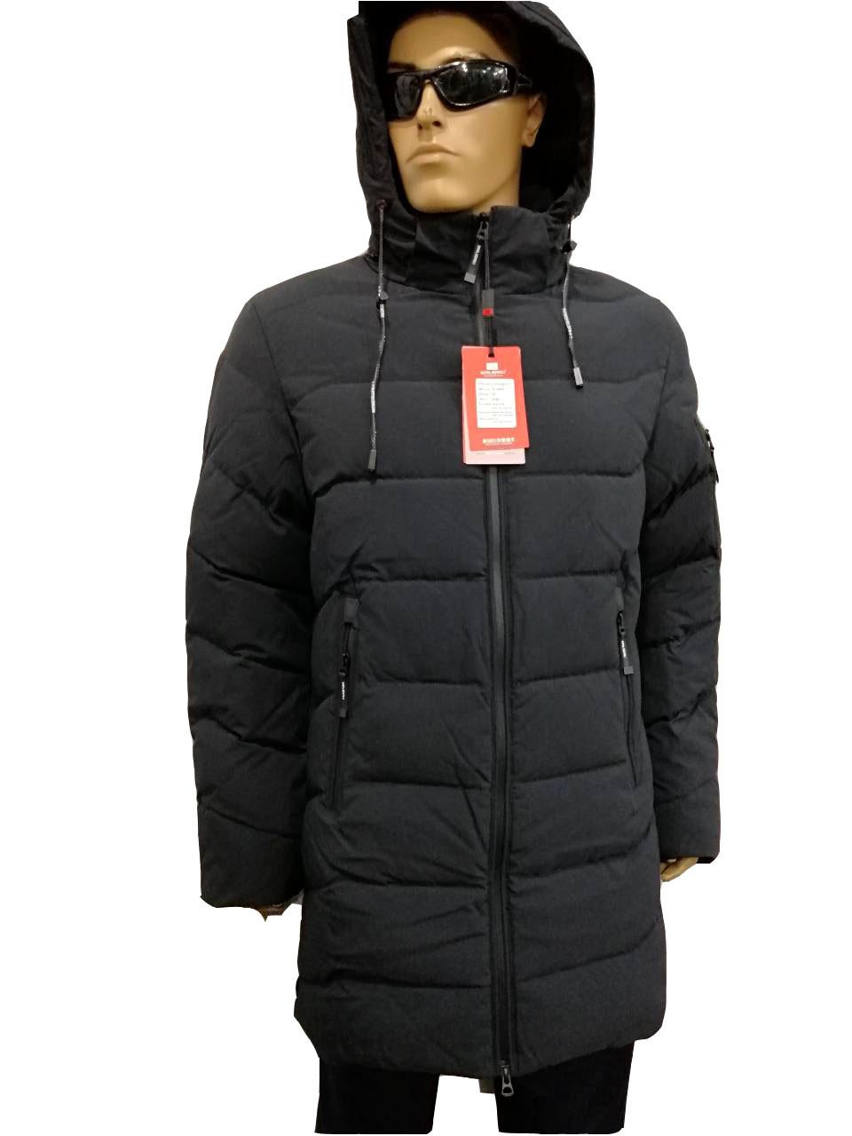 Куртка мужская зимняя Malidinu на синтепоне Модель 18901 фирмы Малидину Серо-синяя
