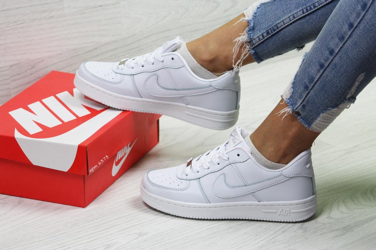 52d8ab73 Кроссовки в стиле Nike Air Force (белые) женские кроссовки найк код товара  6373