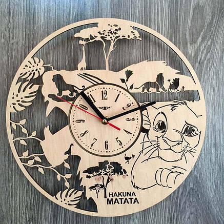 Деревянные часы в детскую Король Лев, фото 2