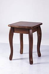 Табурет дерев'яний Смарт на вигнутих ніжках горіх темний (бук)
