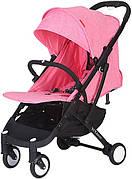 Прогулочная коляска Yoya Plus Розовая с черной рамой (670064992)