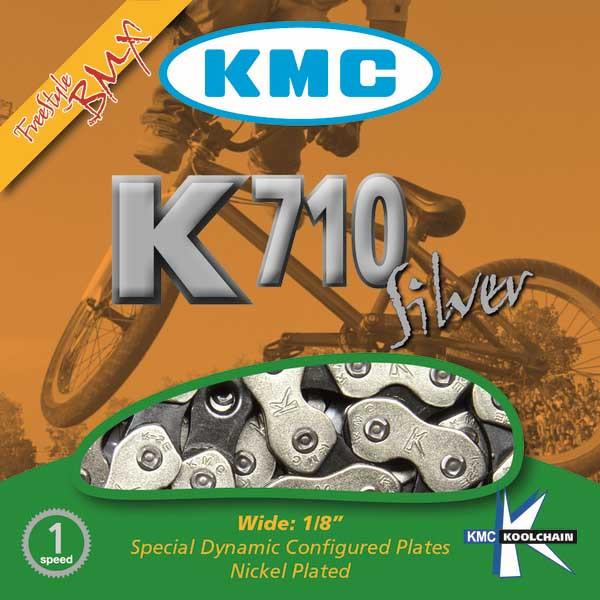 Цепь велосипедная KMC K710 BMX/Single/Freestyle