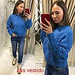 Женский теплый свитер объемной вязки (3 цвета), фото 4