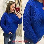 Женский теплый свитер объемной вязки (3 цвета), фото 6