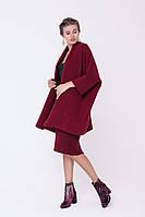 Шикарный женский теплый вязаный кардиган шаль средней длины распашной
