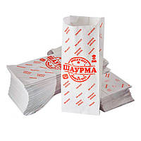 Пакет бумажный для шаурмы с рисунком Шаурма NEW 500шт
