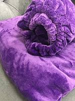 Комплект чехол на кушетку и плед, фиолетовый