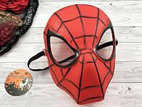 "Маска пластиковая ""Человек паук"" красная- маска на хэллоуин"