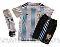 Футбольная форма детская Сборной Аргентины Месси (Messi) + гетры