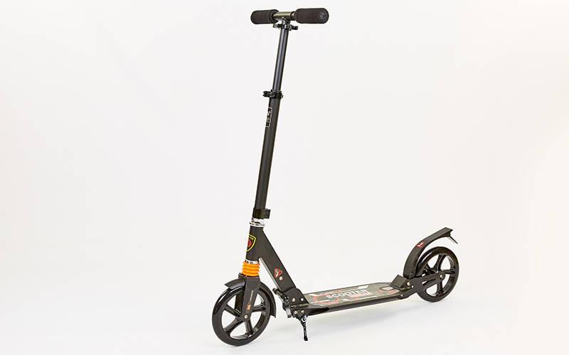 Самокат двоколісний Urban Scooter City Sport 116 підлітковий чорний