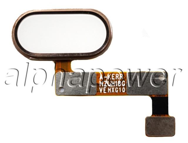 Кнопка сенсорная для  смартфона Meizu M5 note золотой