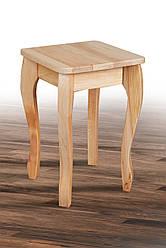 Табурет дерев'яний Смарт на вигнутих ніжках натуральний (бук)