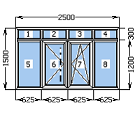 Балконная рама  профиль WDS цвет белый