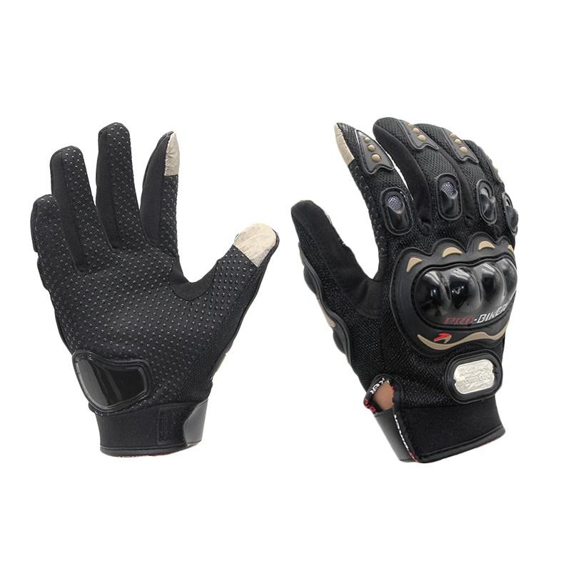 Мото перчатки Pro Biker с защитой (cенсорные вставки на пальцах)
