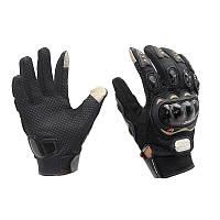 Мото перчатки Pro Biker с защитой (cенсорные вставки на пальцах), фото 1