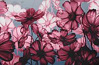 Градиент розового в серый.Купон 3Д. Ткань костюмка №258, фото 1