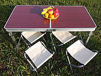 Стол + 4 стула складной чемодан набор для пикника