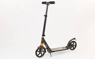 Самокат двухколесный  Urban Scooter City Sport 116 подростковый черный