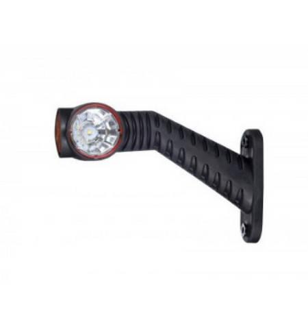 Выносной габаритно-контурный фонарь LED рожок под углом длинный правый белый/красный/оранжевый , фото 2