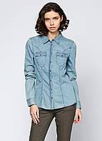 Рубашка женская Geox W3290A LIGHT BLUE