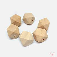 Деревянные фигуры 20х27мм шестигранник для рукоделия цвет дерева