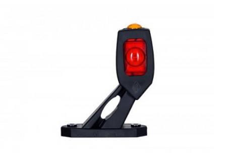 Габаритно-контурный фонарь LED рожок под углом короткий левый белый/красный/оранжевый  , фото 2