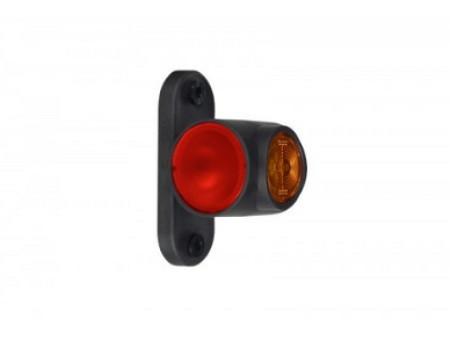 Выносной габаритно-контурный фонарь LED рожок короткий прямой белый/красный/оранжевый