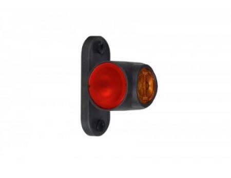 Выносной габаритно-контурный фонарь LED рожок короткий прямой белый/красный/оранжевый  , фото 2