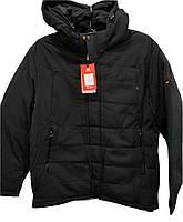 Теплая мужская зимняя куртка Malidinu на синтепоне Модель 18819 Батальные размеры фирмы Малидину Черная
