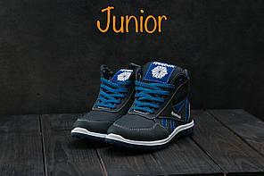 Детские зимние кроссовки Reebok синие топ реплика, фото 3