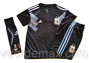 Детская футбольная форма Сборной Аргентины ( Месси) + гетры