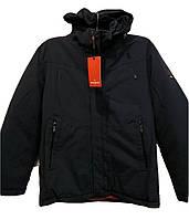 Теплая мужская зимняя куртка Malidinu на синтепоне Модель 18819 Батальные  размеры фирмы Малидину Синяя ae1e43479f8fb