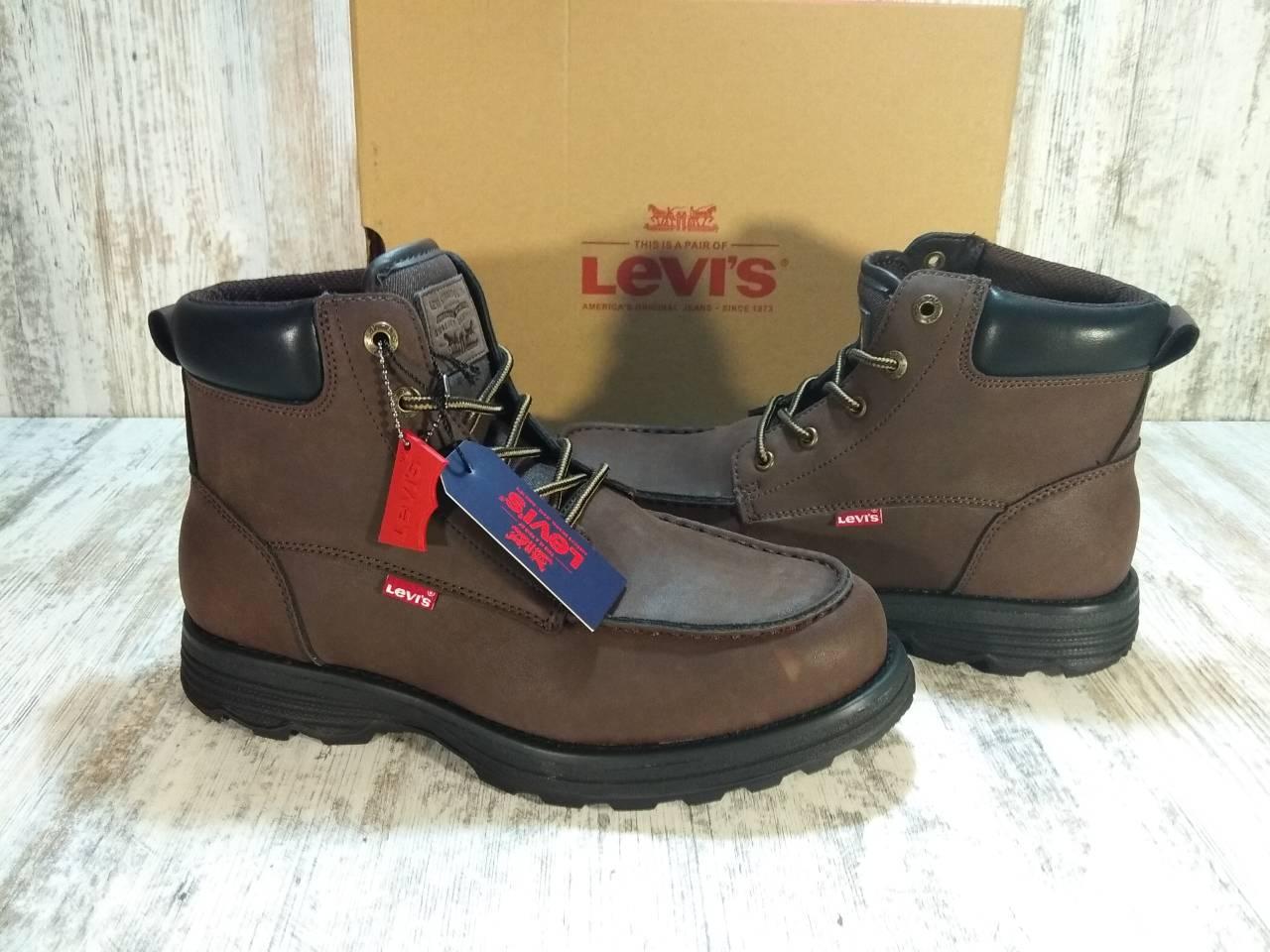 Ботинки кожаные мужские Levi's Harwey Oily Brown/Black Оригинал. Размер 42,5 US 9