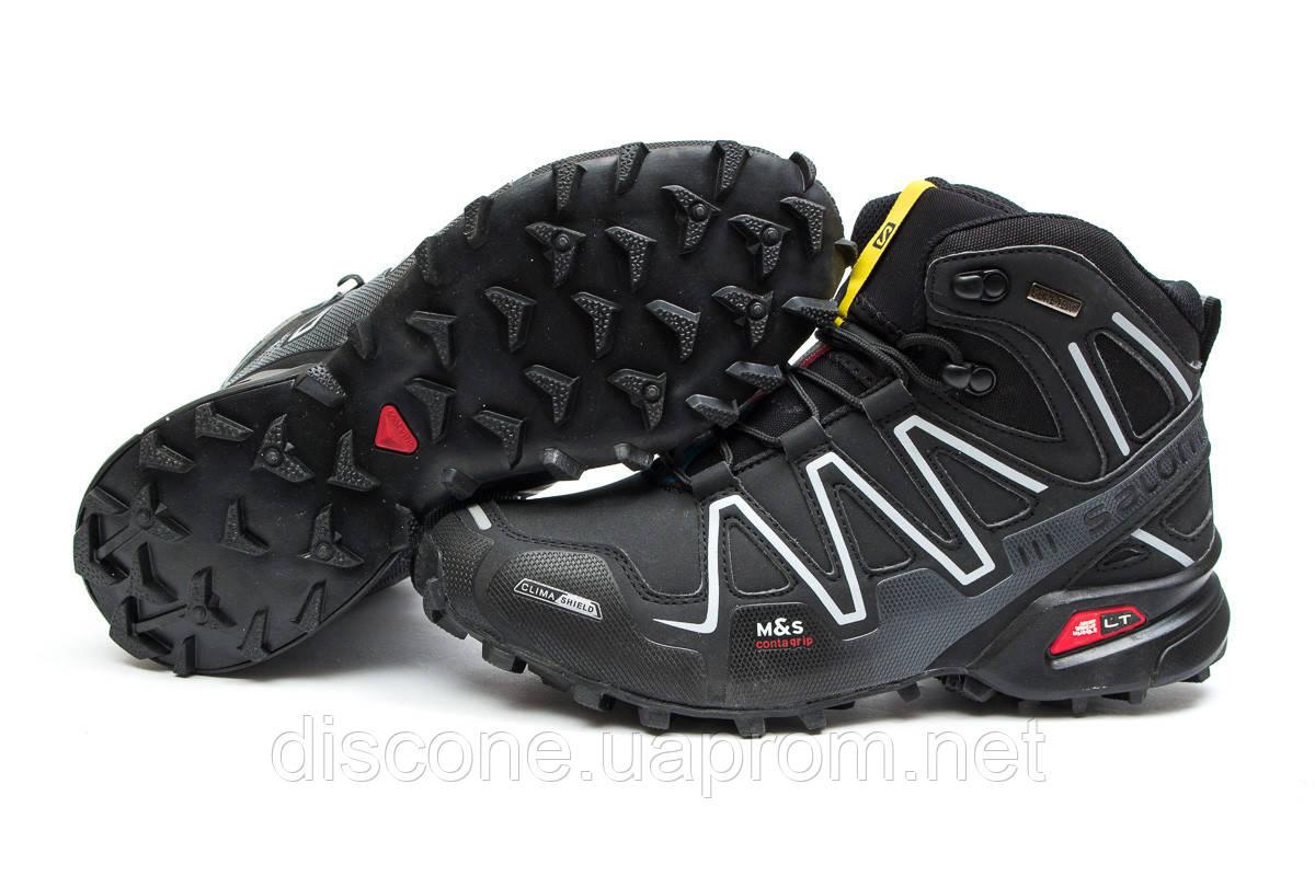 Зимние ботинки ► Salomon Speedcross 3 M&S Contagrip,  черные (Код: 30185) ►(нет на складе) П Р О Д А Н О!