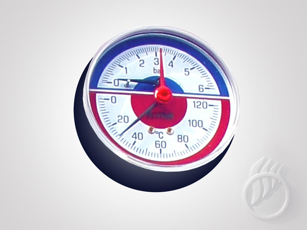Термоманометр для котлов STROPUVA / Запчасти и комплектующие Стропува