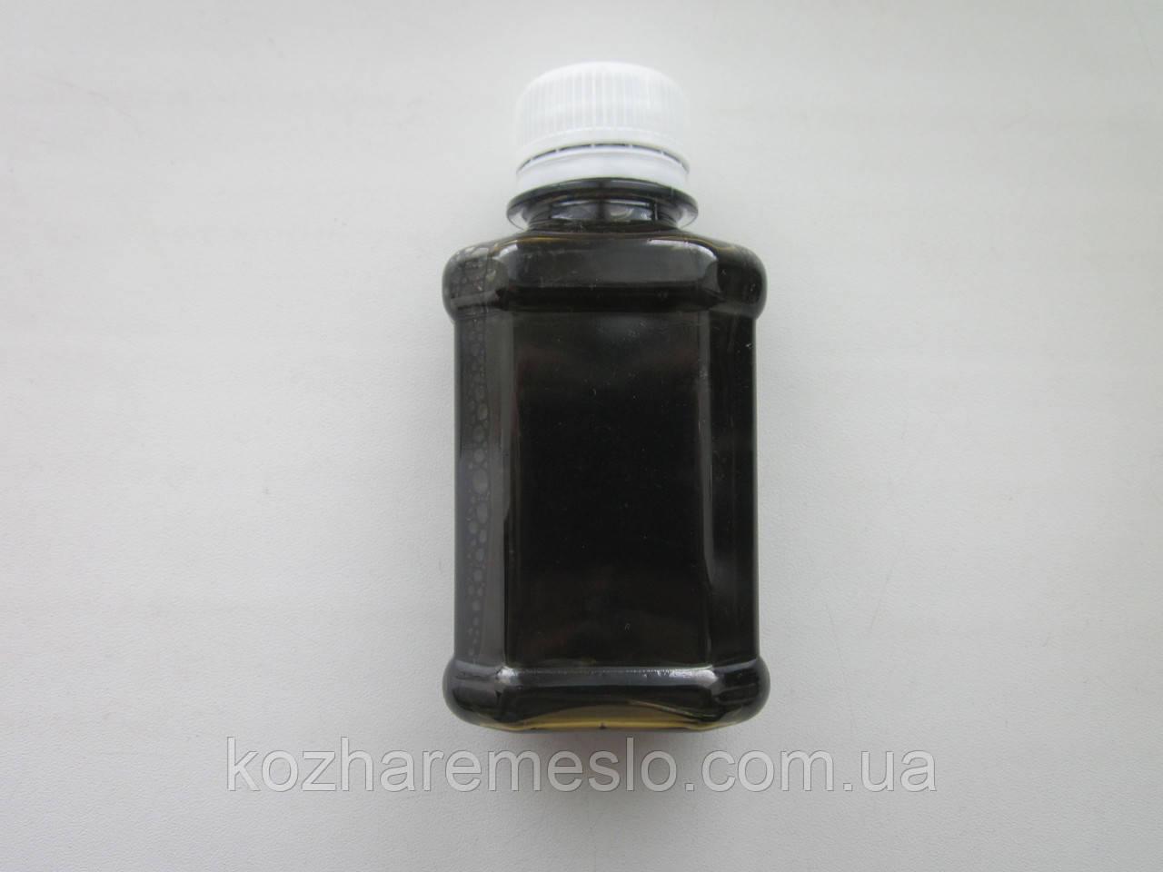 Аппретура для кожи на водной основе 100 мл коричневая сильный глянец