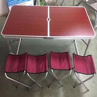 Стол складной для пикника + 4 стула, фото 2