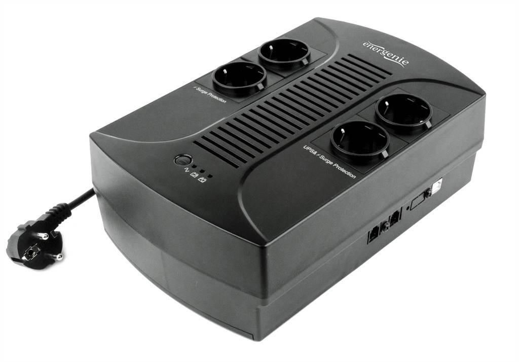 ИБП EnerGenie EG-UPS-001650VA, Line Int., AVR, 4xSchuko