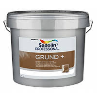 Краска Sadolin GRUND+ - грунтовочная краска, белая, 10 л.