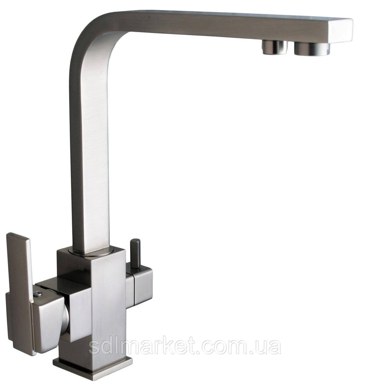 Смеситель кухонный Globus Lux LAZER GLLR-0111 комбинированный